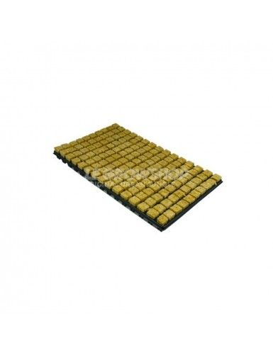 Plateau de laine de roche 150 cubes 25 x 25 x 40mm